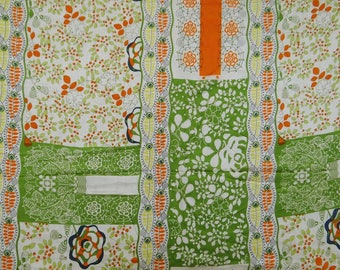 """Off White Silk Fabric, Decorative Floral Print, Apparel Fabric, Sewing Crafts, 44"""" Inch Indian Fabric By The Yard ZS7"""