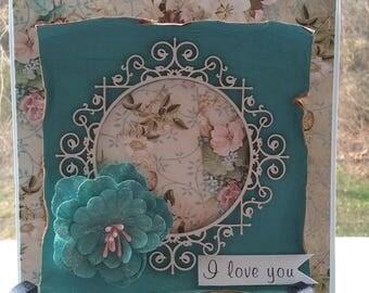 I love you handmade card