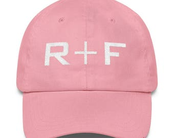 Soft Pink Rodan And Fields Hat Embroidered, Rodan and Fields Pink Hat Unstructured 6 Panel Made in the USA