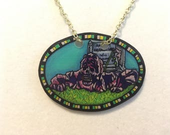 Creepshow Necklace ~ Zombies ~ Horror ~ 80's Horror ~ Shrink Plastic