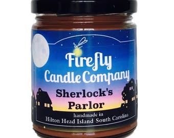 Sherlock's Parlor Soy Candle- Book Lovers- Book Inspired candles- Movie Inspired Candles- Sherlock Candle- 8oz