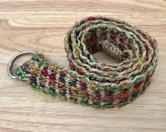 Eco Friendly Bohemian  Pure Hemp Belt