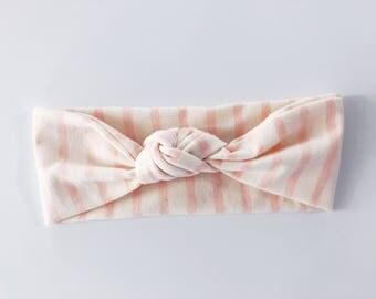 Light Pink Stripe Headband