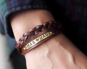 Customized Bracelet ,Personalized Bracelet Leather Bracelet,Custom CUff Bracelet engraved,Gift for him ,Gift Women