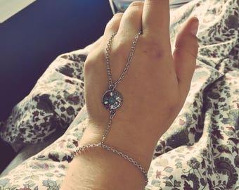 Silver Hand Chain w/ Charm