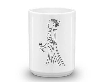 Heathen Lady with Mead Cup Mug