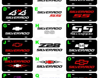 Chevrolet Chevy Silverado Avalanche S10 Colorado assorted metal novelty vanity license plate