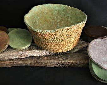 WOW it's concrete!, Bowl,Concrete Bowl,Concrete Basket,Wabi Sabi Concrete Art,Fruit Bowl,Wabi Sabi Art,Handmade Art,Handmade Bowl,Minimalism