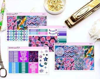 Luna Mini Kit // Planner Stickers for Erin Condren, Happy Planner, Kikki K, Filofax (150+ Stickers!)