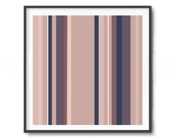Digitat  abstract, contemporary art, darknes art, PRINTABLE , Abstract art , pink art , decor, navy blue pink,  black and peach, Lines art