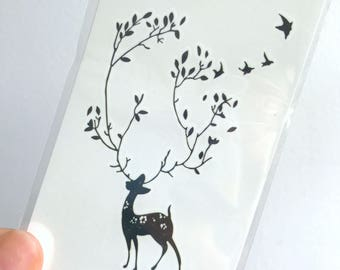 Deer tattoo etsy for Vulgar temporary tattoos