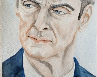 Watercolour Twelfth Doctor Who Peter Capaldi Deep Breath