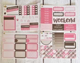 Pink Gingham Mini Kit | Made to fit any planner! 610L