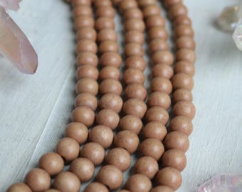 10mm Wood Beads, Beige Wood, Beige Beads, Tan Beads, Tan Wood Beads, Round Wood Beads, Bracelet Beads, Light Tan Beads, Wooden Beads,