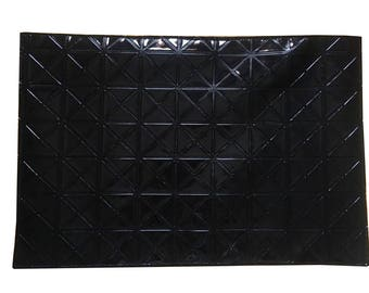 Handmade Black PVC Placemats Kitchen Dining Table Mats