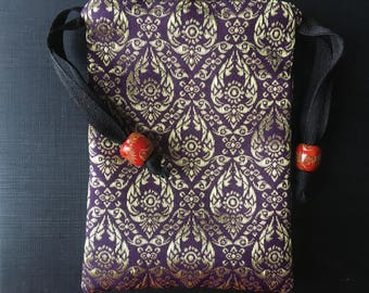 Handmade Thai Silk Tarot Pouch Bag Dice Pouch Jewelry Bag With Drawstring