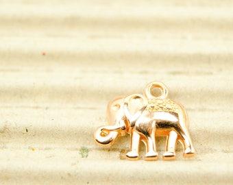 1x Elephant 16 mm Rose gilded art. 4711