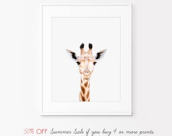 50% OFF nursery decor, nursery wall art, Giraffe Print, animal nursery prints, nursery animal print,animal print for nursery,nursery