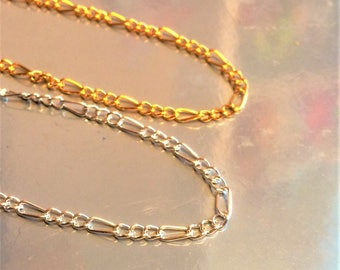 "One piece Silver/Gold Plated Fine Chain Necklace With Clasp 17""X"