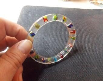 Handmade Resin Bracelet with Beads