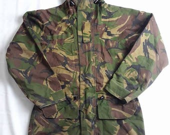 Dutch Army DPM Camouflage Goretex Winter Parka with Wool Liner
