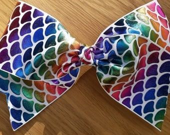 """Extra large 9"""" mermaid tail hair bow"""