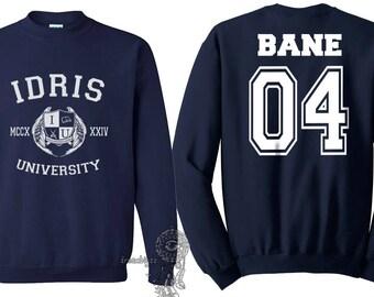 Bane 04 Idris University Crew neck Sweatshirt Navy