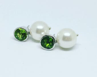 Peridot with pearl drops