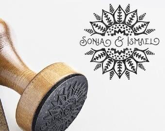 Oriental wedding stamp. Eastern Arabesque custom wedding stamp