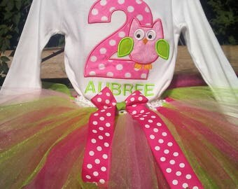 Owl 2nd Birthday Outfit Owl 2nd Birthday Shirt Pink Owl Birthday Outfit Pink Owl 2nd Birthday Owl Personalized Outfit Personalized Shirt