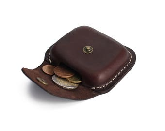 Leather Coin Pouch Coin Holder Coin Organiser Leather Coin Purse Size A