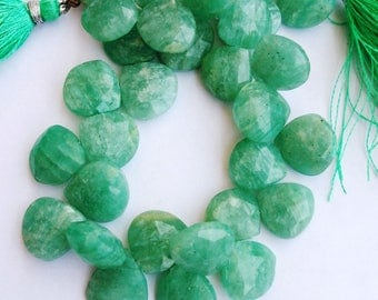 "1 Strand Natural Amazonite 12-13mm  Faceted Flat Pear Gemstone Beads 8"" long strand By SHAMSHAD GEMS"