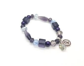Purple Awareness Bracelet - Epilepsy Bracelet - Cancer Survivor Bracelet - Crohns Bracelet - Fibro Bracelet - Lupus Awareness - Cancer