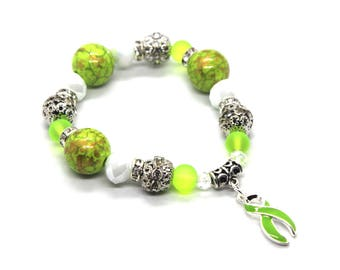Lyme Disease, Lyme Disease Awareness, Lymphoma Awareness, Lymphoma Bracelet, Muscular Dystrophy Awareness Bracelet, Muscular Dystrophy