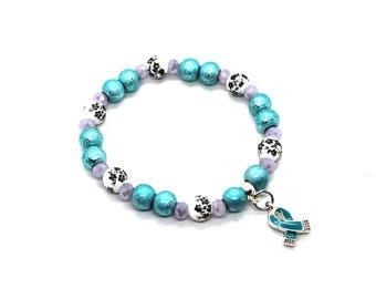 Ocd Warrior - Ovarian Cancer Awareness - POTS Bracelet - FPIES Awareness - PTSD Awareness - Ptsd Jewelry - Ocd Awareness - Ovarian Cancer