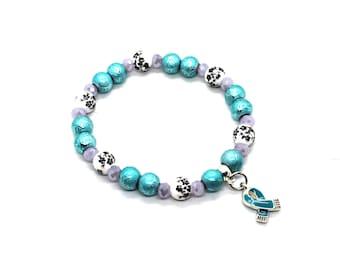 Ocd Warrior - Ovarian Cancer Awareness - FPIES Bracelet - FPIES Awareness - PTSD Awareness - Ptsd Jewelry - Ocd Awareness - Ovarian Cancer