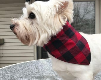 Small Buffalo Plaid Dog Bandana