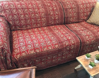 Block Print Slipcover/Bohemian SofaScarf