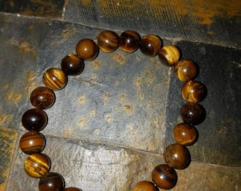 Tigers eye bracelet for protection, balance and grounding