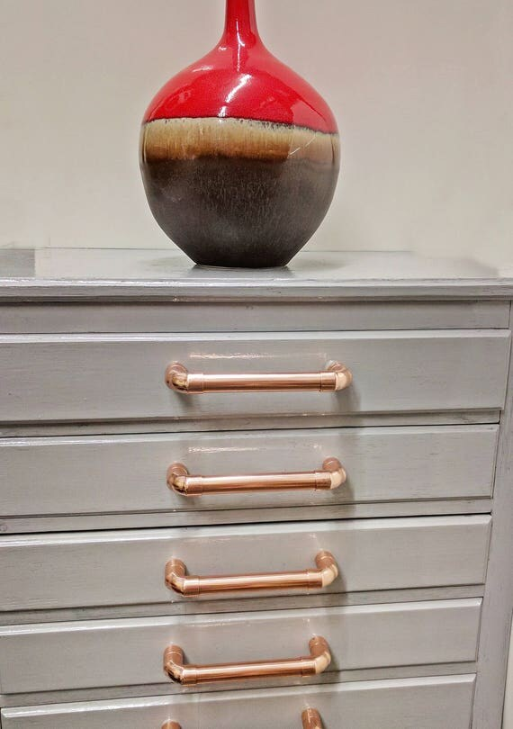 copper pull handle drawer knobs pulls cabinet hardware kitchen cupboard rose gold. Black Bedroom Furniture Sets. Home Design Ideas