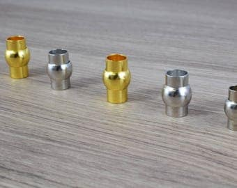 6mm/8mm Magnetic Tube Clasps/Silver/Gold Plated/Magnetic Clasp/Silver Clasps/Magnetic/Clasp/Round Magnetic Clasp/Metal Clasp/Necklace Clasp