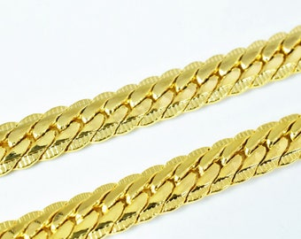 "Gold Filled Chain 18KT Gold Filled Size 19.4"" Long 6.5mm Width Item #CG197"