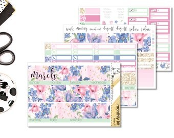 MARCH Monthly Kit!! Perfect For The Erin Condren Life Planner!