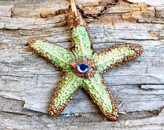 Woman's Gift, starfish necklace, gift for mom, natural necklace, holiday gifts, girls gift, starfish pendant, mermaid necklace, natural jewe