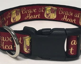 dog collar, gryffindor 2, harry potter, harry potter dog collar, harry potter collar, gryffindor dog collar, gryffindor collar, hogwarts