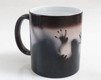 Magic Color Changing Zombie Horde Walking Dead Themed Flesh Eating Outbreak Coffee Mug Tea Cup Funny Meme Internet Humour Magic Mug