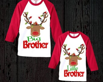 Sibling Matching Christmas Shirts - Brother or Sister