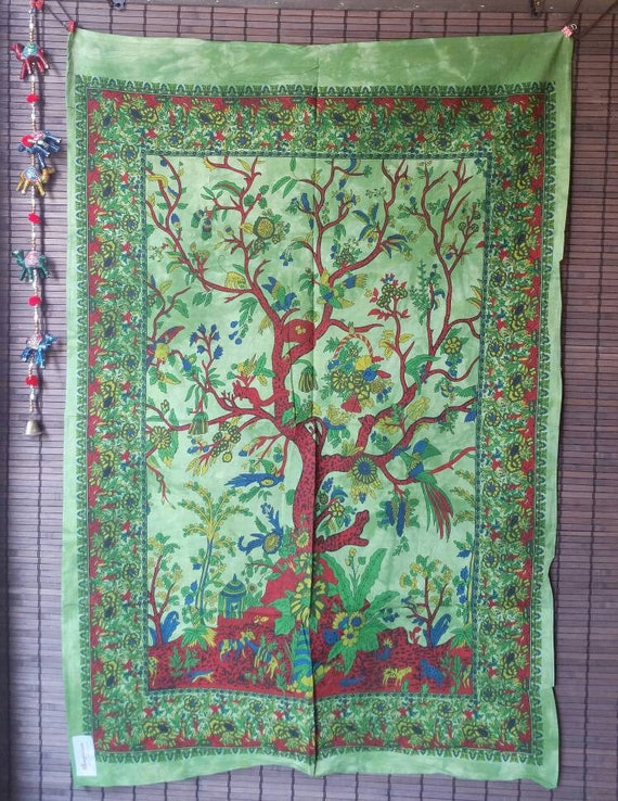 Bohemian Tree of Life Tapestry, Wall Tapestry Hippie, Wall Tapestry Nature, Bohemian Tapestry, Hippie room decor, Hippie Wall Hanging,