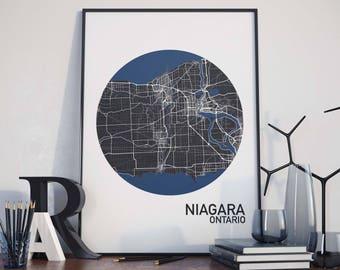 Niagara, Ontario City Map Print