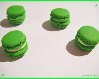 4 cabochon macaron candy treats friandis 1 cm
